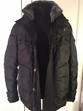 *PEUTEREY* NWT MEN'S DOWN JACKET COAT BLACK MADE IN ITALY SIZE 56