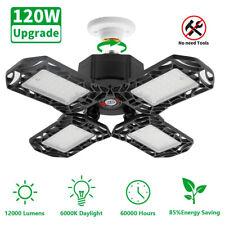 2Pack Deformable LED Garage lights 12000LM Workshop Bright Ceiling Lamp 120W【US】