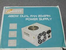 Logisys Corp. 480W 20+4Pin Dual Fan 20+4 ATX Power Supply (PS480D2) New * NICE *