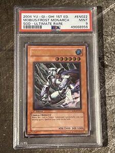 Mobius The Frost Monarch Ultimate Rare 1st Edition SOD EN022 YuGioh PSA 9 Pop 13