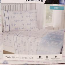 Disney Frozen 2 Flannel Sheet Set Twin Size 3 Piece Cotton Elsa Anna Olaf