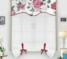Short Curtains Window Tulle Voile Dividers Home Transparent Sheer Curtain Drapes