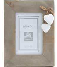 """Rustic Driftwood Photo Frame 4x 6"""" Shabby Chic Vintage Picture Frames Wedding"""
