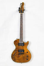 2018 Customize Electric Guitar F-Hole In Brown  Tiger Strip  Free Shipping