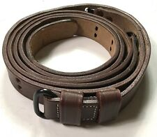 WWII US M1 GARAND RIFLE M1907 LEATHER CARRY SLING- 1 INCH VERSION