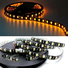 Amber LED PVC Seal Flexible Strip Car Decor Light 5M 300Leds 5050 SMD 12V Bright