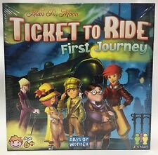 NEW Ticket to Ride First Journey Board Game Alan R Moon Days of Wonder - Sealed