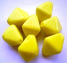7  Böhmische Glasperlen  Gelb  ca 17 x 12  mm  #  142
