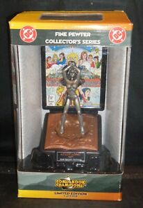 """""""WONDER WOMAN"""" DC Comic Book Champions Fine Pewter Collector's Series Statue MIB"""