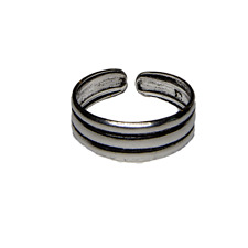 Toe Ring .925 sterling silver girls adjustable open foot beach ring feeanddave