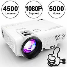 DR.Q Projector, L8 Mini Projector 4500 LUX, Video Projector Supports 1080P HD,