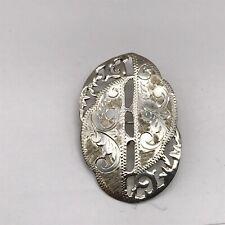 Sterling Cut Work Designer Ladies Brooch Vintage Solid Silver Signed Vg Siam
