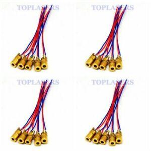 20pcs/lot Mini 1mW 650nm Red Laser Module Dot Diode LED Lights 3V 6x10mm
