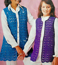 "#93 Ladies Girls Crochet Waistcoat 25-38"" DDK Yarn Vintage Crochet Pattern"