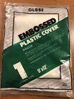 Embossed Plastic Drop Cloth, 1 mil thick Medium Duty, Indoor, 9 X 12, 108 SQ FT