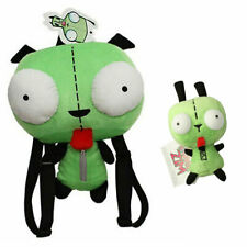 Set of 2 Green Invader Zim Robot Gir Plush Backpack Bag and Stuffed Doll Toy