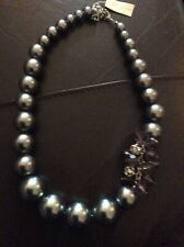 Anne Taylor American retailer grey chunky beaded  necklace NEW Wedding.