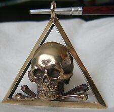 Anhänger Freimaurer Loge Bijou Totenkopf im Dreieck