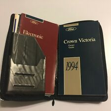 1994 Ford Crown Victoria Town Car Owner Guide Manual Welcome Pack
