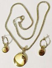 parure collier anneaux  pampille rodié argent et couleur or top qualité 4153
