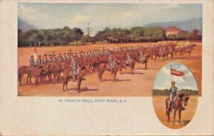 WEST POINT NY~UNITED STATES ARMY CAVALRY DRILL-W H STOCKBRIDGE PUB POSTCARD 1909