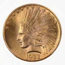 1932 Indian $10 PCGS Certified MS62 US Mint Gold Coin