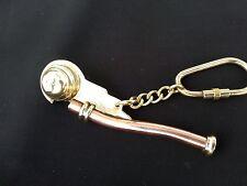 Boatswain call key ring pipe nautical gift handmade item