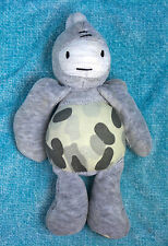 "Ecko Unltd Abstract Rhino Dino 8"" Bean Bag Plush Gray White Camo Stuffed Animal"