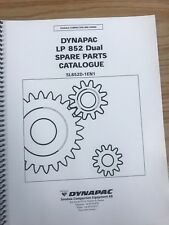 Dynapac LP 852 PARTS MANUAL BOOK CATALOG FREE PRIORITY SHIP