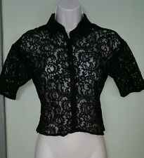 Express black lace cropped evening jacket/Shrug/top womens size XSmall NWT