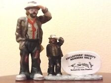 "Flambro Emmett Kelly, Jr. ""Looking Out To See"" Plus Miniature Twin Figure"