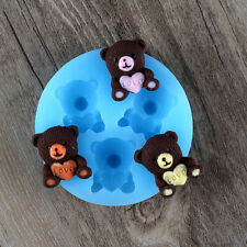 Teddy Bear DIY Resin,Clay Forms Silicone Fondant Molds Chocolate Candy Mould