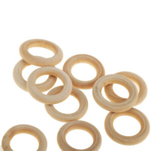10pcs Unfinished Wood Round Circle Rings Loops Jewelry Making 1.2cm 3x3cm