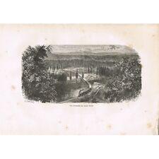 Chemin de Fer Transcontinental Américain vue du Grand-Ravin GRAVURE XIXè Siècle
