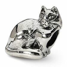 Sterling Silver Reflection Ragdoll Cat Bead Msrp $109