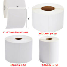 4000 Direct Thermal Shipping Labels 4x6 Inch For Zebra 2844 Zp 450 Eltron Zp 500