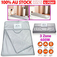 3 Zone Infrared Sauna Heating Blanket Detox Therapy Spa Body Slimming Fitness AU