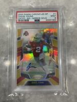 2020 Chronicles Draft Picks Certified Chase Young Auto Mirror Gold /10 PSA 9