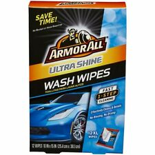 Armor All Ultra Shine Wash Wipes, Fast 1-Step Cleaning, 12 XL Wipes