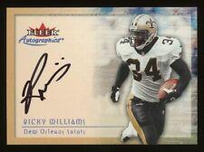 2000 Ricky Williams Fleer Autographics Auto Autograph *NICE* Texas Longhorns