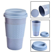 Travel Mug Office Coffee Tea Water Plastlc Wheat Straw Cups Bottle 350ml Cup