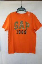 "Gap Kids Boys' Size XL Orange T-Shirt with ""GAP"" in Camoflauge on Front"