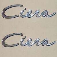 Bayliner Boats Ciera Silver 13 1/2 x 2 1/2 Raised Vinyl Marine Decals (Pair)