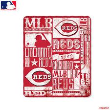 "Brand New MLB Cincinnati Reds Large Soft Fleece Throw Blanket 50"" X 60"""