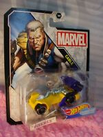 2019 MARVEL CABLE 🎬Yellow/blue🎬✰Hot Wheels Character Cars