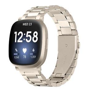For Fitbit Versa 3 2 1 Versa Lite Fitbit Sense Stainless Steel Watch Band Strap