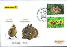 RFA 2016: Lièvre brun et Oie cendrée! Post-FDC de Nr 3217+3218! Timbre de Berlin