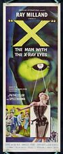 X THE MAN WITH THE X-RAY EYES * CineMasterpieces ORIGINAL MOVIE POSTER INSERT