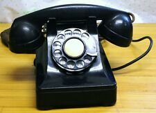 VINTAGE WESTERN ELECTRIC FIW BLACK ROTARY  PHONE TELEPHONE DESK TOP