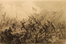 Petersburg, Fight In The Crater, Seige Of Vicksburg, Engraving 1865